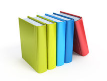 Row of colorful books. Isolated on white Stock Images