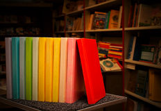 Row of colorful books Royalty Free Stock Photo