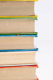 Row of colorful books. On white Royalty Free Stock Images