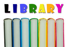 Row of colorful books' spines - Library concept Stock Photography