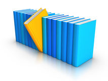 Row of Colorful Books - Standing out from crowd. 3D rendered row of colorful books Stock Photos