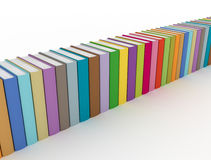 Row of colorful books. On white background Royalty Free Stock Photography
