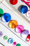 Row of colorful buttons Royalty Free Stock Images