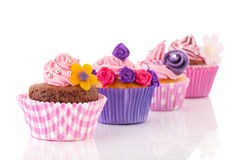 Row colorful cupcakes Royalty Free Stock Photo