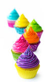 Row of colorful cupcakes Royalty Free Stock Image