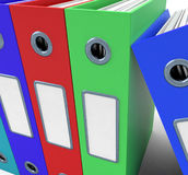 Row Of Colorful Files To Get The Office Organised stock illustration