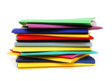 Row of colorful folders Stock Photo