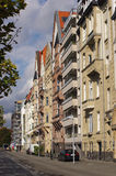 Row of colorful houses in Dusseldorf Stock Photo