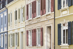 Row of colorful houses Royalty Free Stock Photography
