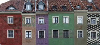 Row of colorful old houses Royalty Free Stock Image