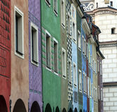 Row of colorful old houses in Poznan Royalty Free Stock Image
