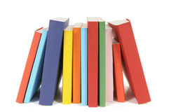 Row of colorful paperback books Royalty Free Stock Images