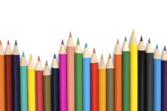 Row of colorful pencils. Stock Photos