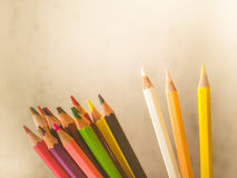 Row of colorful pencils Stock Photo