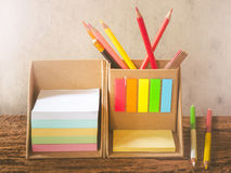 Row of colorful pencils Stock Images