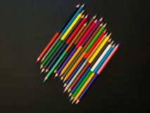 Row of colorful pencils Royalty Free Stock Photography