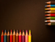 Row of colorful pencils Royalty Free Stock Images