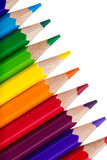 Row of colorful pencils Royalty Free Stock Image