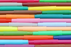Row of colorful pens. For painting or drawing Stock Photos