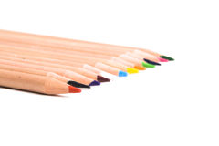 Row of coloring pencils Stock Images