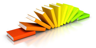 Row of Colourful Books. 3D rendered row of colourful books Royalty Free Stock Image