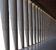 Row of Columns. Row of greek columns in Athens stock image