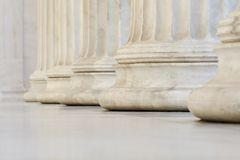 Row of columns. Marble columns of academy of athens Royalty Free Stock Images