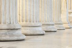 Row of columns. Marble columns of academy of athens Royalty Free Stock Photo