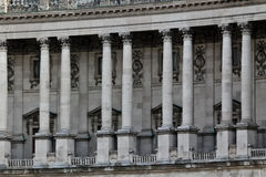 Row of columns in a palace Stock Image