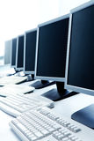 Row of computers Stock Images