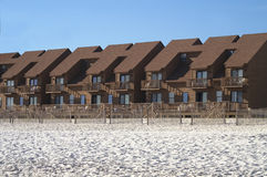 Row of Condos on Beach Stock Photos