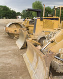 Row of Construction Equipment Royalty Free Stock Images