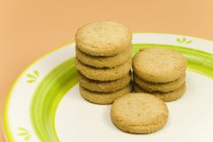 Row of cookies Royalty Free Stock Images