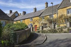 Row of Cotswold cottages, Blockley Stock Photography