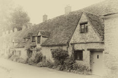 Row of Cotswold Cottages Stock Photography