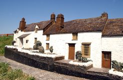 Row of Cottages. A Row of Cottages in Cornwall royalty free stock images