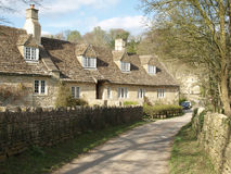 Row of Cottages. Row of English Cottages on a Country Road Stock Photo