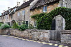 Row of Cottages. Row of Idyllic Cottages on a Street in Oxford England Royalty Free Stock Image