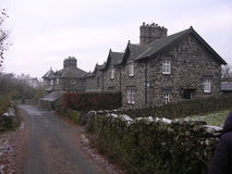 Row of Cottages. English Lake District stock image