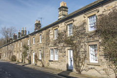 Row of cottages in Bakewell, Derbyshire Royalty Free Stock Images