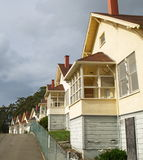 Row of cottages in California Stock Image