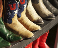 Row of cowboy boots Stock Photo