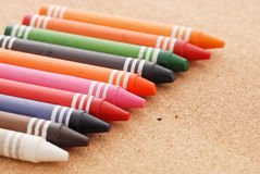 Row of Crayons Royalty Free Stock Photography