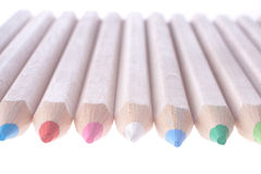 A row of crayons Royalty Free Stock Images