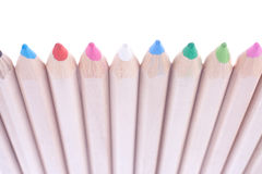 A row of crayons Royalty Free Stock Photography