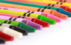 Row Of Crayons Stock Photos