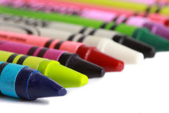 Row Of Crayons Stock Images