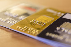 Row of Credit Cards Royalty Free Stock Photography