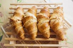 Row of Croissants Stock Image