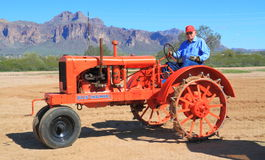 USA, AZ: 1937 Allis-Chalmers - With Proud Owner Stock Photo